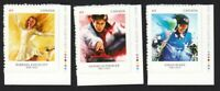 WINTER SPORTS = Set of 3 Stamps w/Color Dots fr BKLT Canada 2014 #2705-2707 MNH