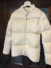 MISS GRANT Jacket Age 14 White Duck Down Puffa  With Pearls And Diamonds 💎