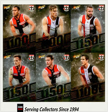AFL Trading Card MILESTONES SUBSET COMPLETE FULL TEAM SET-ST.KILDA-2012-2018