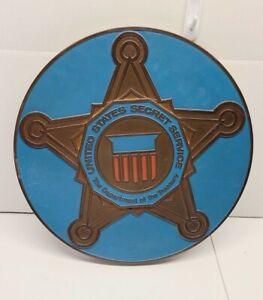 Vintage Salvaged US Secret Service Treasury Department Wall Plaque Molded Star