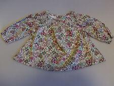 babyGAP Bluse Tunika Hängerchen Blumenmuster Retro rosa rot Gr 56/0-3 Monate NEU