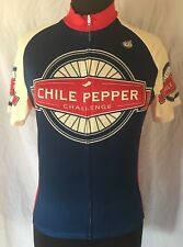 Vintage Cycling Jersey 2010 CHILI PEPPER CHALLENGE El Paseo Bike Club Mens XS