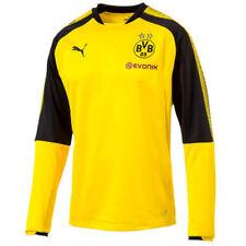 Camisetas de fútbol de manga larga para hombres amarillos