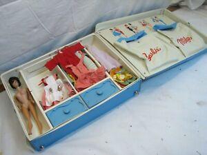 1963 Barbie Midge Clothes Case w/Vintage Doll Toy Mattel Shoes Hand Made