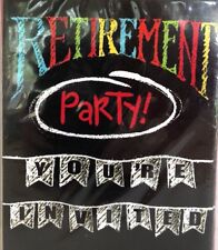 +Happy Retirement Party Invitations 8 Ct Chalk Retiring Employee Celebration