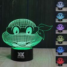TMNT Teenage Mutant Ninja Turtles 3D  LED Night Light 7 Color Table Desk Lamp