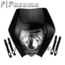 NEW BLACK MOTORCYCLE HEADLIGHT ENDURO ROAD LEGAL KTM XR WR CR RMZ DR DRZ KLX 250