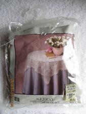 "Linens Textiles Vintage Keeco 36"" Round Hand Crochet Lace Topper Cotton New Bag"