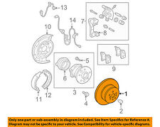 TOYOTA OEM 02-06 Camry Rear Brake-Rotor 4243106051