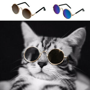 Sunglasses for Dogs Cool Cats and Kittens Glass Eye-wear Round Shape Small Puppy