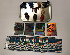 Bakugan Lot Of 9 , Multicolored, Different Shapes w/ Rare Japanese Cards