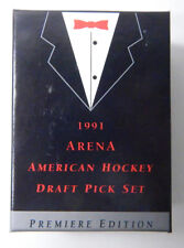 1991 Arena American Hockey Draft Pick Factory Set (33-cards) COA