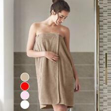 Asciugamano Telo Doccia Bagno Shower Wrap Super Soft Chiusura Strappo 4 Colori