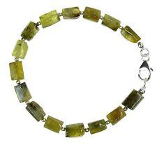 Grossular / Granat grün Armband 925 Silber Armkette Z151
