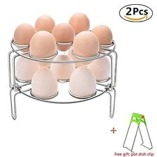 Steamer Rack+Dish Clip for Instant Pot, FrontTech Stackable Egg Steam Rack