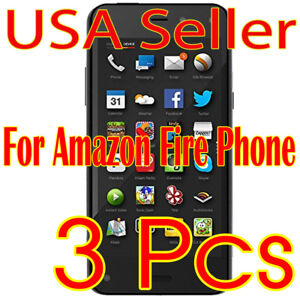 3x New For Amazon Fire Phone HD Crystal Clear Screen Film Protector Guard