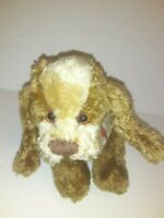 "Ganz Cottage Collectibles Vintage Brown Dog 8"" Plush Stuffed Animal"