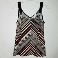 White House Black Market Sleeveless Blouse Top Diagonal Striped Size Small I408P