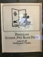 VERY RARE Disneyland Backstage Cast 1981 Blood Drive Fantasyland Minnie Sign  TN