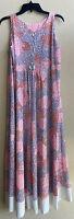 Vintage 60's Mod Flowy Gossard Artemis Nylon Wide Leg Mosaic Jumpsuit Medium