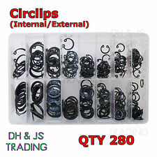 Assorted Box of Circlips Int / Ext (16 Sizes) Internal External Retaining Clip