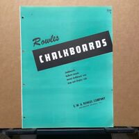 Vtg E.W.A. Rowles Com Brochure ~ Chalkboards - Bulletin Boards - Trim - Catalog