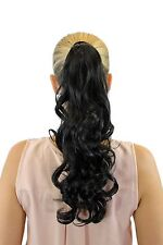 hairpiece plait Hooked Comb Hair Circlet Dark Brown Wavy Curly 45 cm rosy-3