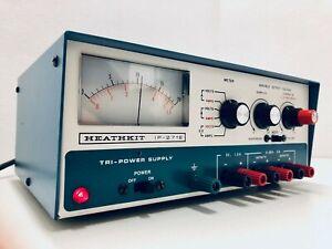 Heathkit IP-2718 Power Supply Tri-Power Variable Output Volt Amps Heath Radio