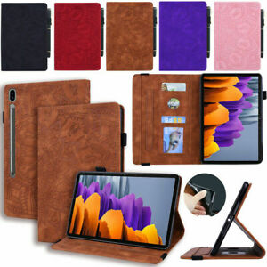 """For Samsung Galaxy Tab S7 FE 12.4"""" T730 Tablet Flip Leather Stand Case Cover"""