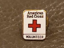 Vintage American Red Cross Volunteer Enamel Metal Logo Pin
