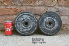 vintage wheels old plastic/rubber wheels industrial  - 15.5 cm - FREE DELIVERY
