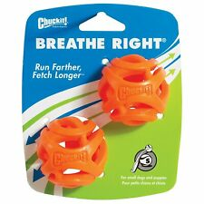 Chuckit Breathe Right Fetch Ball Dog Toy Small 2 pack