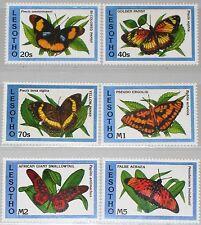 LESOTHO 1993 1038-43 961-66 Butterflies Schmetterlinge Fauna Insects Insekten **
