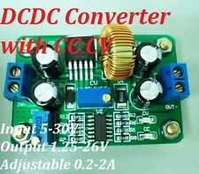 DCDC Converter Step-down Power Supply 5-30V to 1.25-26V 2.6A CC CV LED Indicator
