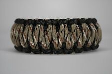 550 Paracord Survival Bracelet King Cobra Black/Desert Camo Camping Tactical