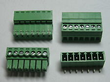 100 x Angle 90° 7 pin 3.5mm Screw Terminal Block Connector Pluggable Type Green