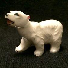 Vintage Bone China White Polar Bear Animal Figurine - JAPAN