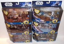 LOT Star Wars The Clone Wars Attack Speeder AT-RT Freeco DroidFigure Hasbro 2010