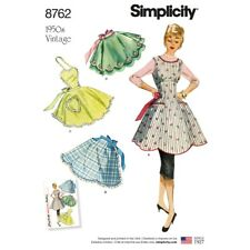 SEWING PATTERN! MAKE 50'S VINTAGE STYLE FULL~HALF APRONS! 4 STYLES! FIFTIES FUN!