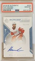 2018 2019 SP AUTHENTIC Filip Hronek PSA 10 #/999 AUTO RC ROOKIE FUTURE WATCH SPA