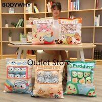Cartoon Animals Bag Toy Plush 8 Mini Animal Doll Corgi Bunny Cushion Props Gift
