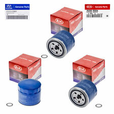 Set Of 3 Genuine OEM Oil Filter 26300-35504 Plug Gasket 21513-23001 For Hyundai
