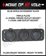Thumper Accessory Plate 2x Engel Fridge 1x Dual USB socket 12Volt Flush mount