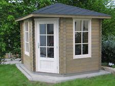 Corner Log Cabin 28mm; 8.6ft x 8.6ft FREE SHINGLE TILES+ floor boards