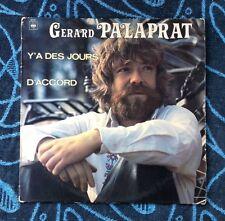 GERARD PALAPRAT / Y'A DES JOURS...D'ACCORD - LP (France 1978) VG+/VG+ RARO !!!