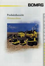 Prospekt Bomag Kleinmaschinen 2/02 2002 Broschüre Baumaschinen brochure broschyr