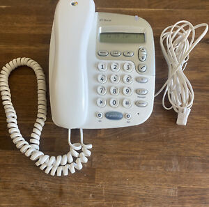 BT Decor 1200 White Corded Telephone with Hands Free Speakerphone Wall Mountable