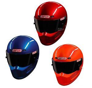Simpson Super Bandit Helmet/Lid Snell SA2015 Blue Red Orange All Sizes RACE
