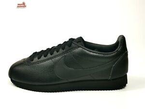 Nike Classic Cortez Sneaker Herren Schwarz Leder 42 42,5 43 44 44,5 45 45,5 46