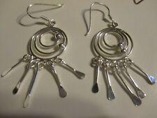 Cute Silver-Tone Dangle Earrings �� �� Jewelry Garage Sale! ��